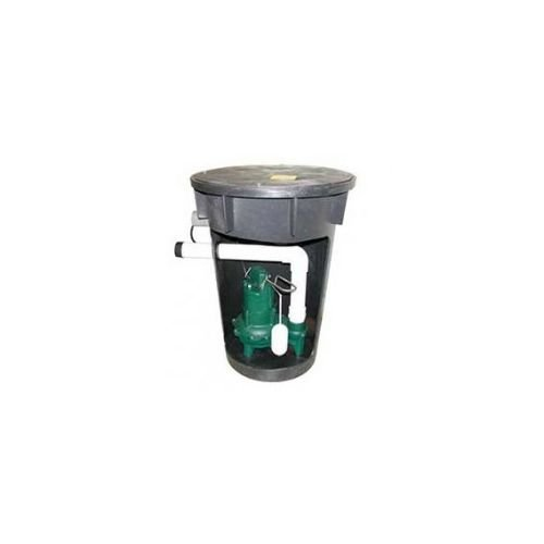 4/10 HP Sewage Pump and Basin System by Zoeller