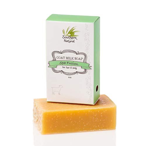 (Essential Oil Blend - Handmade Goat Milk Soap Bar - For Eczema, Psoriasis & Dry Sensitive Skin. 100% Natural & Gentle For Men, Women & Children. (1 BAR Apprx)