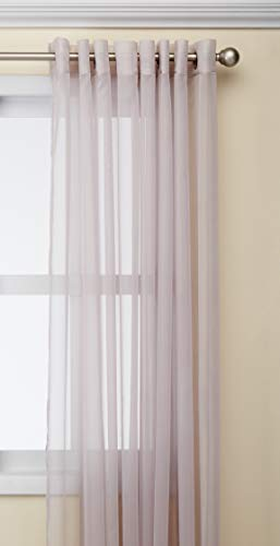 Delicate Decorative Window (Deconovo 1 Panel Home Decorative Delicate Grommets Window Treatments Wide Width Sheer Curtain for Bedroom, 100W x 95 L Inch, Light Lavender)