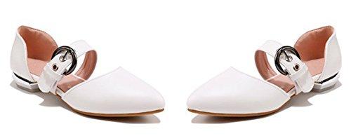 Cheville Confort Pointu Escarpins Aisun Boucle Bout Femme Blanc Bride Avec q5wx6tTB