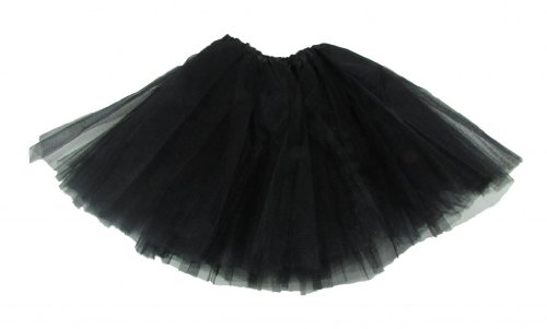 [Hairbows Unlimited Black Dance or Ballet Tutu for Girls / Kids / Toddlers - Cute Skirt!] (Black Ballet Dance Costumes)