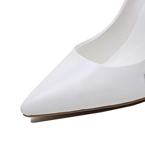 Encaje Del Moda Bombas Novia Apuntado Brillante De White Boda Novia Cerrada Individuales Delgado Zapatos Tacón Tacón Rhinestone Altura Tacones 12 Punta Cm Vestido Mujeres wH0IqI