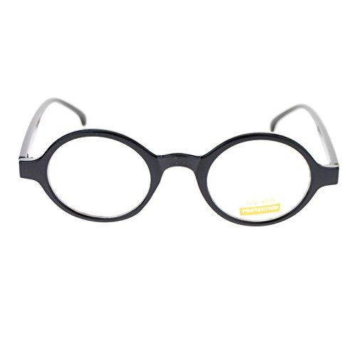 Unisex Retro Vintage Style Oval Plastic Frame Round Clear Lens Eye Glasses - Eyeglass Frames Plastic Oval