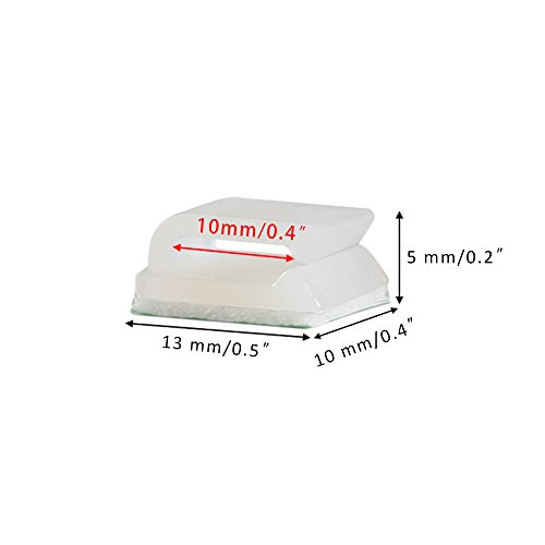 Large Product Image of Strip Light Mounting Clips KINDPMA Self Adhesive LED Strip Light Mounting Brackets Holder for 10mm(3/8