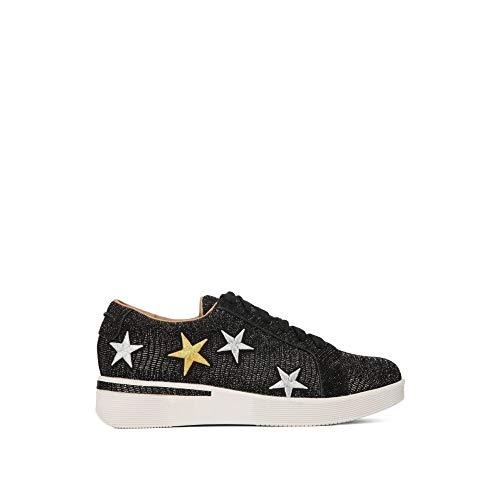 - Gentle Souls by Kenneth Cole Women's Haddie Star Low Profile Sneaker Emb Stars Fashion Sneaker, black, 10 M US