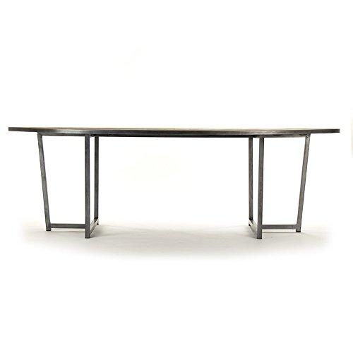 Industrial Loft Ronald Wood Top Zinc Leg Dining Table (Furniture Upscale Brands)