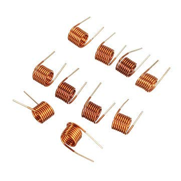 Compatible SCM & DIY Kits Compatible SCM Components - 10pcs Coilcraft Inductor 3.51.5t0.7 Copper Wire Hollow Inductance Coil Remote Control Inductor - 10 x Inductance Coil