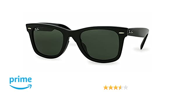 548f7c06da Amazon.com  Ray Ban ORIGINAL WAYFARER ASIAN FIT RB 2140F 901 52mm BLACK  FRAME GREEN G-15XLT  Shoes
