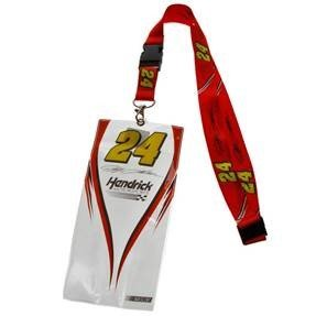 Jeff Gordon Lanyard - NASCAR #24 JEFF GORDON CREDENTIAL HOLDER w/ LANYARD