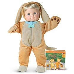American Girl Bitty Baby Twins Puppy Costume & Book (DOLL NOT INCLUDED) (Twin Girl Costumes)