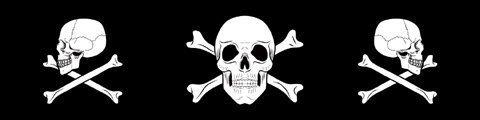 Zanheadgear Cooldanna 100 Percentage Cotton Skulls and Crossbones Head and Neck (Cooldanna Cooling Headband)