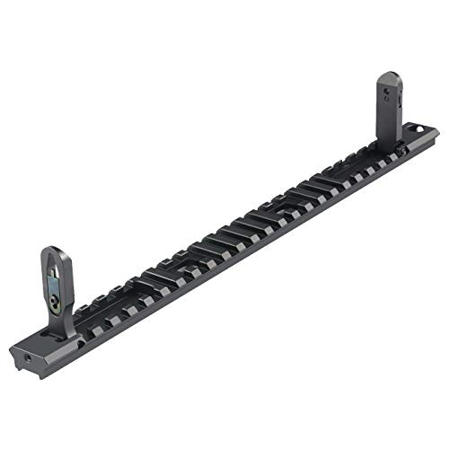 Fyland MP7 Backup Sight Top Rail, Metal Picatinny Rail Sections with Front and Rear Flip-up Sights