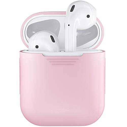 PodSkinz AirPods Case Protective Silicone Cover and Skin Compatible with Apple Airpods Charging Case (Pretty in Pink)