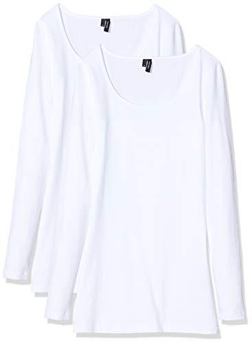 VERO MODA Damen Langarmshirt (2er Pack)