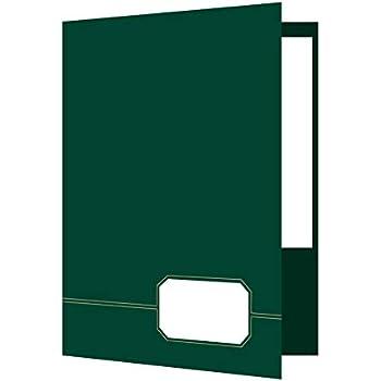 Amazon Com Oxford Executive Two Pocket Folder Green