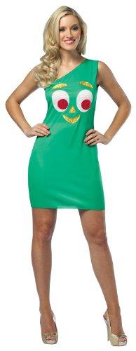 Rasta Imposta Gumby Tank Dress, Green, Adult 4-10 (Gumby Costumes)