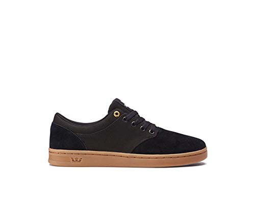 Supra Mens Chino Court Black Gum Shoes Size 6