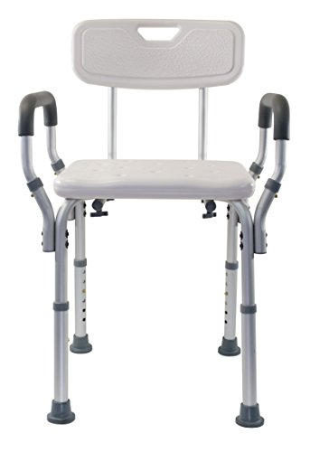 Nova Back Glass - Essential Medical Supply Shower Bench with Arms and Back