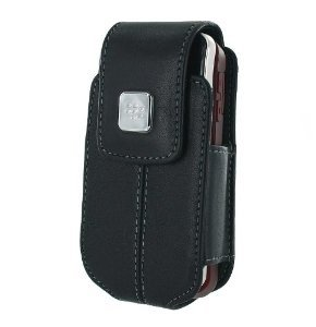BlackBerry 8220 Leather Swivel Holster (Black) (8220 Holsters Leather Swivel)