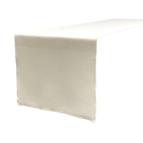 (LA Linen Polyester Poplin Table Runner 14 by 108-Inch,)