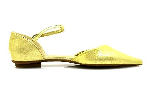ballerine ESTIVE 10733201 SCARPE DONNA Cuoio UNO elegante Oro Verniciato scarpe scarpe VIA 1wXxUtpqx