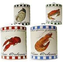 New Orleans Four Seasons of Louisiana Salt and Pepper Shakers