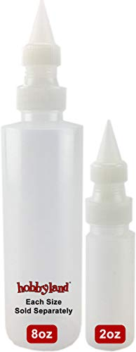 Hobbyland Squeeze Bottles with Fine Point Spout (8 oz, 3 Bottles)