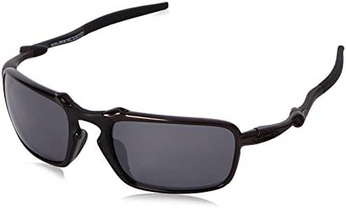 Oakley Men's Badman OO6020 Polarized Iridium Rectangular Sunglasses