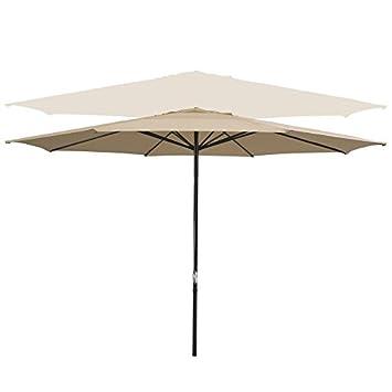 13 Foot Tan Furniture Table Patio Market Umbrella