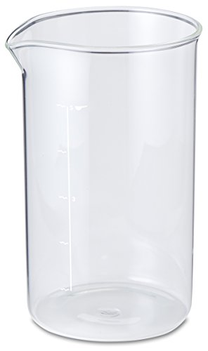 Aerolatte Universal Borosilicate Glass Replacement Carafe For French Press Coffee Makers, 5-Cup, 20-Ounce Capacity (20 oz, 600 ml) ()
