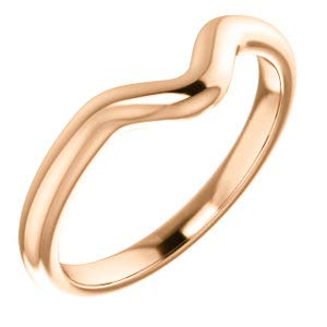 - Jambs Jewelry 18K Rose Band for 8x6 mm Oval Ring