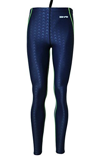 Men Wetsuits Basic Dive Skins Body Pants Surfing Leggings Breathable Tights Wetsuit - 3XL - Blue (green - Wetsuit Pants Mens