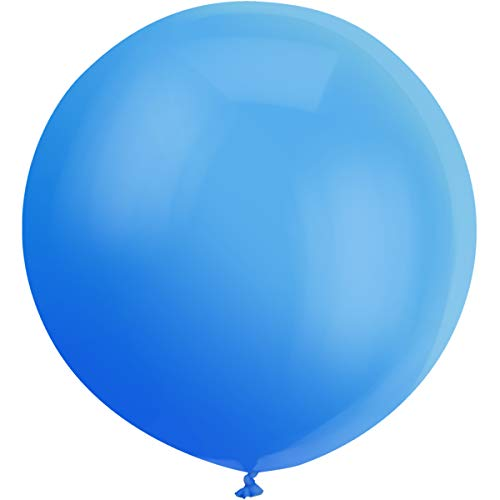GuassLee Giant Balloons 36-Inch Blue Balloons - 6 Big Latex Balloons Large Transparent Balloon for Birthdays Party Wedding and Event Decorations -