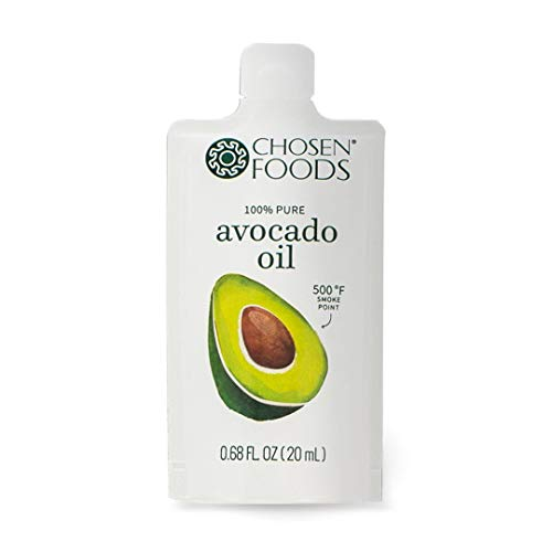 (Chosen Foods Avocado Oil Packets, 50 Count, Single Serve for Salads, On-The-Go Use, Work, School, Travel, Road Trips, Bag Lunches)
