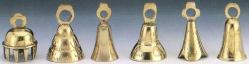 Dozen 2.5'' Assorted Brass Bells