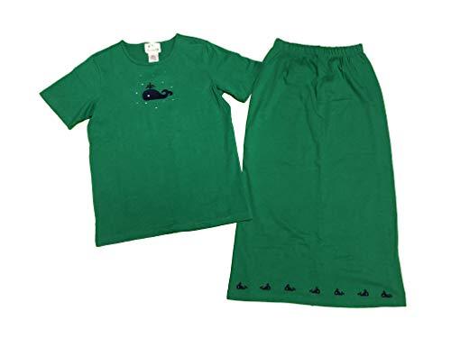 (Quacker Factory Womens 2 pc Skirt Set Rhinestones Whale Small Green)