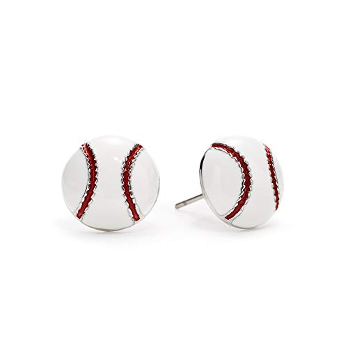 GIMMEDAT Baseball Earrings - Baseball Enamel Post Earrings