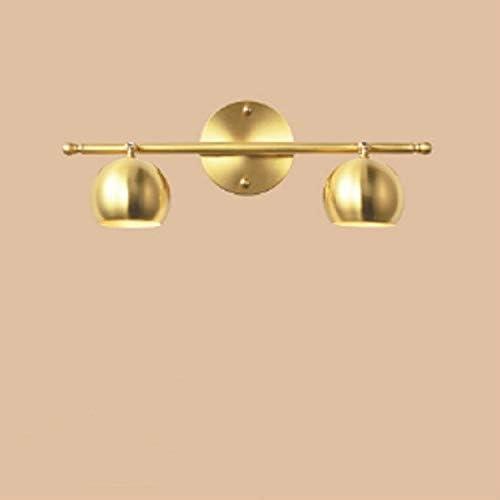 PEISHI Lampada da Parete E27 LED Retro Rame Specchio fari da Bagno, fonte di energia: Senza fonte di Luce, Il Colore della Luce: 2 Teste di Rame A Bello