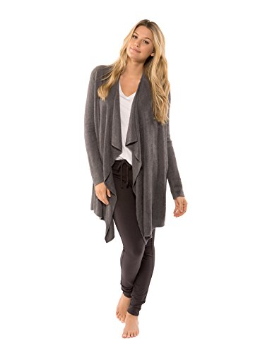 Barefoot Dreams Women's Bamboo Lite Calypso Wrap (Graphite, Small / Medium)
