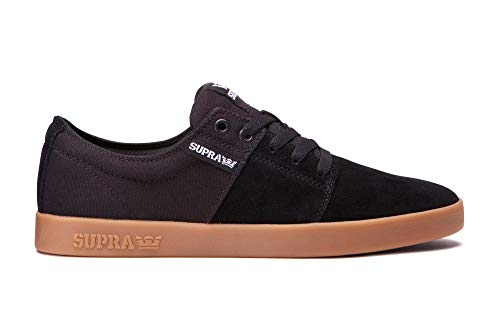 Supra Stacks II Skate Shoe, Black-Gum, 11 Regular US