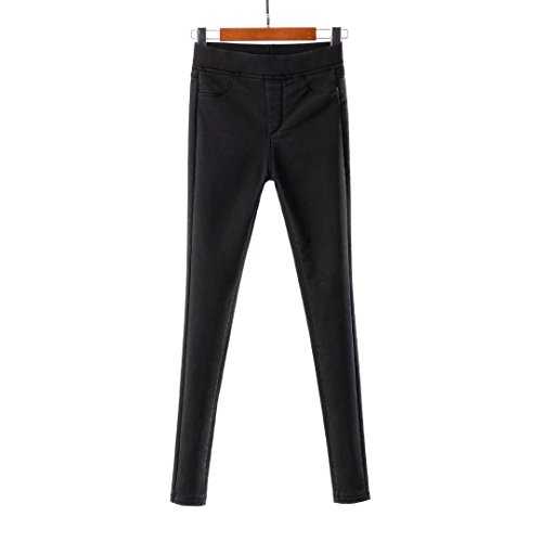 H.coosy practical;cozy Factory Europe and the United States wind tight snow plus cashmere thicker footwear pants pants X12 black (Knob Cashmere)