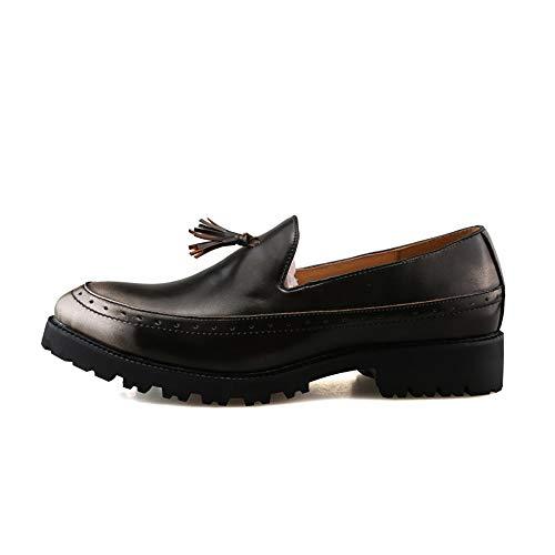 Suola Business Uomo EU britannica formali Silver Xiaojuan Dimensione Color e 39 Scarpe Pelle con casual da uomo frange comode Silver OxfordChic shoes sfavillanti Scarpe YBwAwqa5
