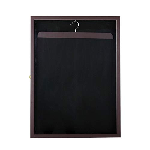 totoshop Jersey Shadow Box Wall Display Case Rack Frame Lockable Football Baseball New Brown