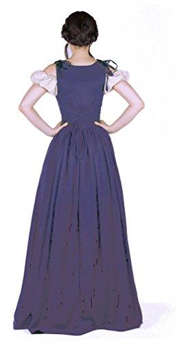 I Do Declare Renaissance Medieval Irish Costume Over Dress & Boho Chemise Set (L/XL, Steel Blue) by I Do Declare (Image #1)