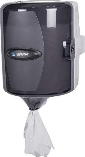 San Jamar T410TBK Adjustable Centerpull Towel Dispenser, Black Pearl