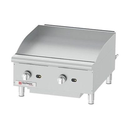 Cecilware Pro GCP24 Commercial Gas Countertop Griddle 60,000 BTU by Cecilware