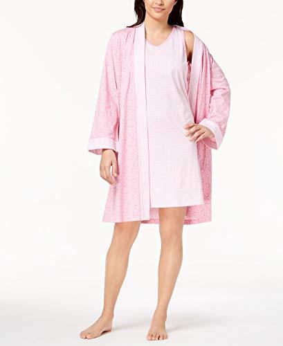 Charter Club Womens Plus Size 2-Piece Robe Set, Cali Pink, ()