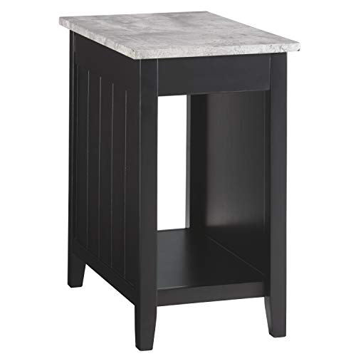 Signature Design by Ashley T217-811 Ashley Furniture Signature Design-Diamenton Chairside End Table, Black