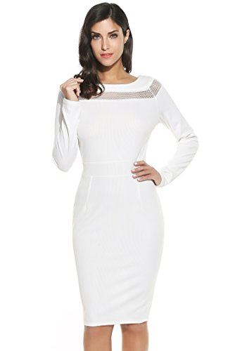 Meaneor Womens Hollow Patchwork Bodycon