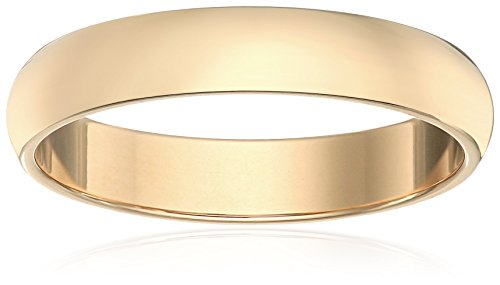 Classic Fit 14K Yellow Gold Band, 4mm, Size 7 by Amazon Collection